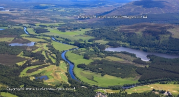 Scottish scenery ,Aerial photography Scotland,Golf